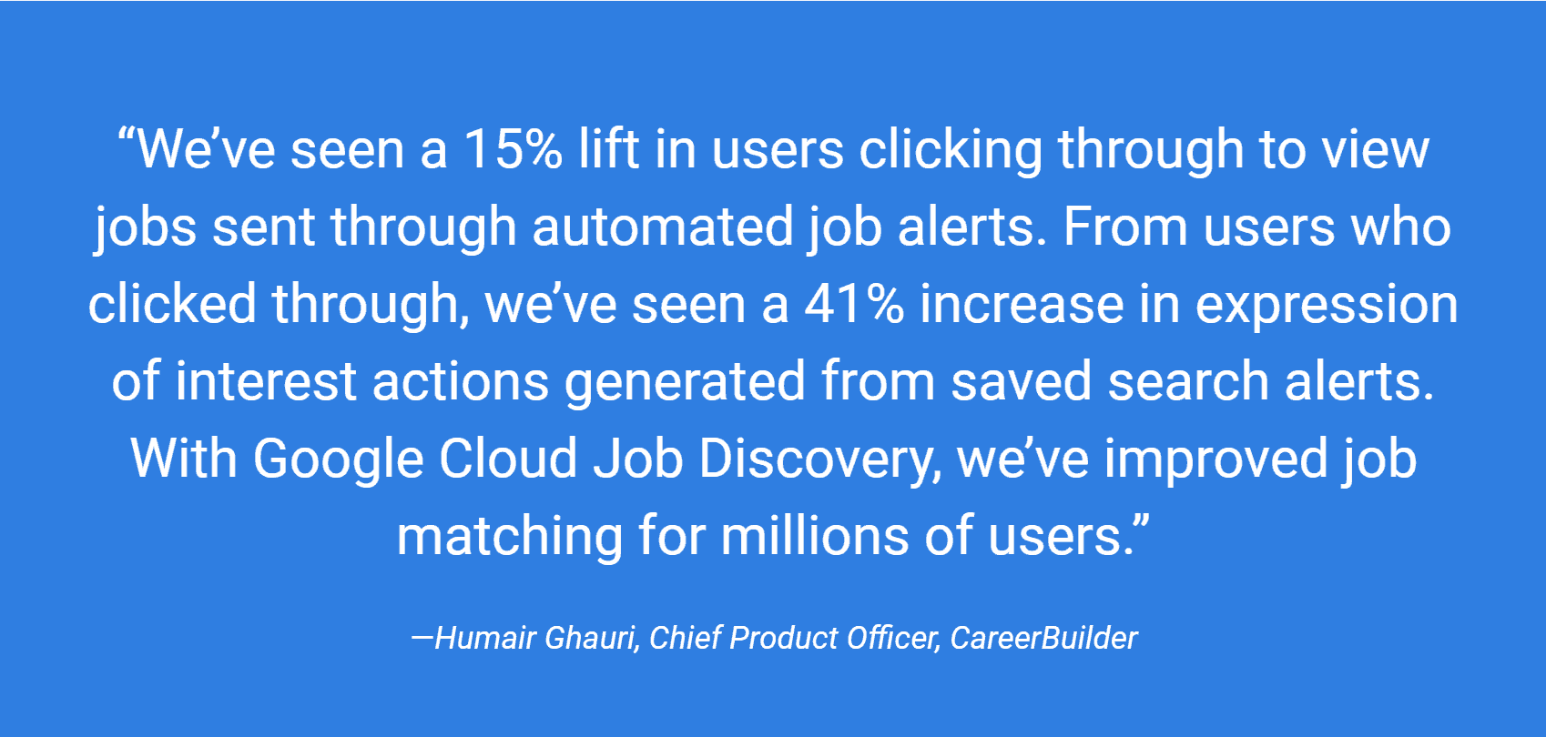 with google cloud job discovery, we've improved job matching for millions of users